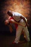 Young couple dances Caribbean Salsa Royalty Free Stock Photos