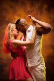 Young couple dances Caribbean Salsa Royalty Free Stock Images