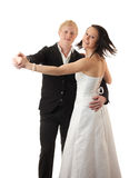 Young couple dancing Royalty Free Stock Images