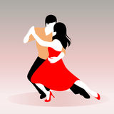 Young couple dancing. Vector llustration of a young couple dancing Royalty Free Stock Photo