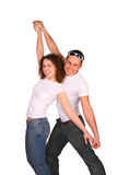 Young couple dancing Stock Photography