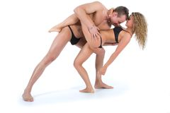 Young couple dancing Stock Images