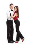Young couple dancing with each other Royalty Free Stock Photo