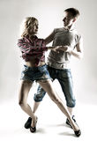 Young couple dancing Stock Image