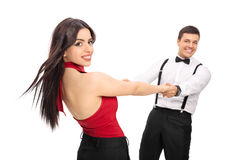 Young couple dancing and having fun Royalty Free Stock Photo