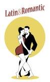Young couple dancing latin music. Bachata, merengue, salsa Royalty Free Stock Photography