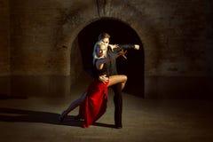 Young couple dancing Latino. royalty free stock image