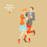Young couple dancing lindy hop Stock Image