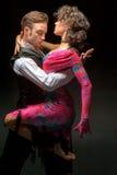 Young couple dancing Stock Photo
