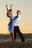 Young couple dancing tango Royalty Free Stock Photo