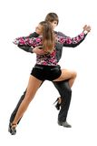 Young couple dancing tango stock photography