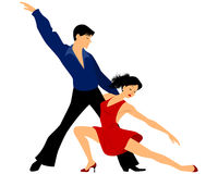 Young couple dancing Stock Photos