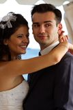 Young couple dancing the wedding dance Royalty Free Stock Photography