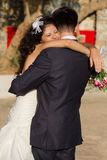 Young couple dancing the wedding dance Royalty Free Stock Photos