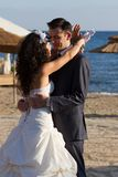 Young couple dancing the wedding dance Stock Photo