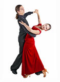 Young couple dancint waltz Stock Photo