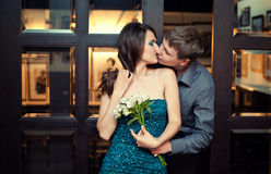 Young couple on a date Royalty Free Stock Images