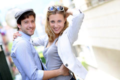 Young couple on a date Stock Image