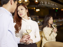 Young couple dating in bar Stock Image