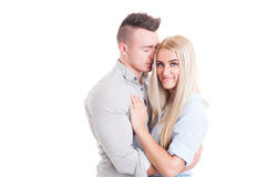 Young couple dating concept Stock Photography