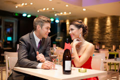Young couple on dating Stock Images