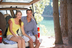 Young couple on day out Royalty Free Stock Photo