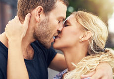 Young couple deeply in love Royalty Free Stock Photography