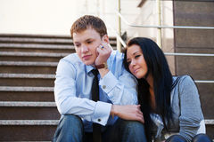 Young couple in depression Stock Photography