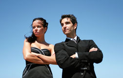 Young couple doing business Stock Image