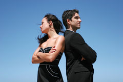 Young couple doing business Stock Photos