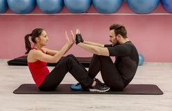 Couple in the Gym royalty free stock images