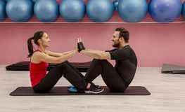 Couple in the Gym stock photography