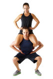 Young couple doing fitness exercise Royalty Free Stock Image