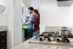 Man And Woman Doing Chores Washing Clothes Royalty Free Stock Photography