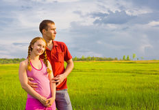 Young couple dreaming Royalty Free Stock Images