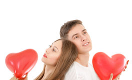 Young couple dreaming Royalty Free Stock Photos