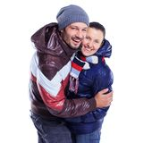 Young Couple Dressed In Winter Clothes Stock Photos
