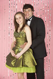 Young Couple Dressed For Party Stock Photo