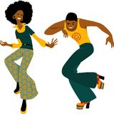 Disco dancing couple Royalty Free Stock Image