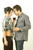Young couple drinking wine Royalty Free Stock Image