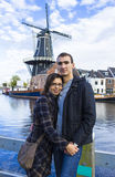 Young couple in Dutch town of Haarlem. The Netherlands Royalty Free Stock Image