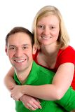 Young couple in an embrace Stock Photography