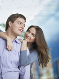 Young couple embrace Stock Photos