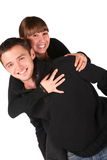 Young couple embraces Stock Photography