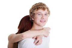 Young couple embracing. Royalty Free Stock Image