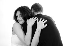 Young couple embracing Stock Photo