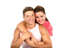 Young couple embracing Royalty Free Stock Image