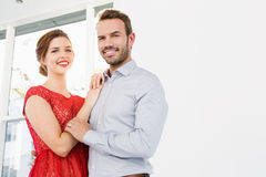 Young couple embracing each other Royalty Free Stock Photography