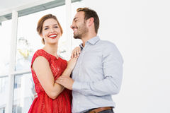 Young couple embracing each other Royalty Free Stock Photo