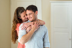 Young couple embracing each other Stock Image